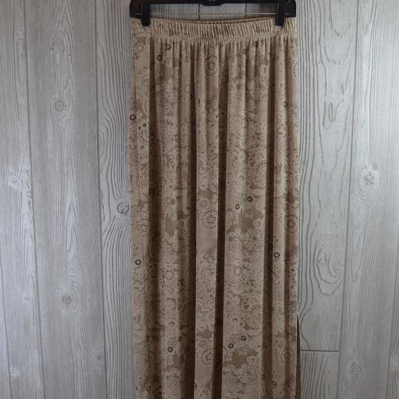 Avenue Dresses & Skirts - Slinky Knit Skirt Beige PLUS SIZE 14 16